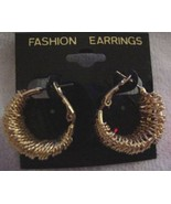 Fashion Golden Wire Wrapped Hoops Pierced Earrings New 30 Days to Shop &... - $2.67