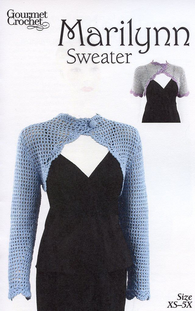 Primary image for Marilynn Sweater Gourmet Crochet Pattern NEW - 30 Days To Shop & Pay! SZ XS-5X