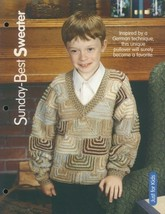 Sunday Best Sweater Child's Sz 4-12 Knitting Pattern NEW 30 Days to Shop... - $2.67