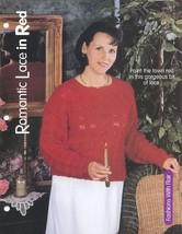 Romantic Lace in Red Womens Sweater NEW Knitting Pattern - 30 Days to Pay! - $2.67