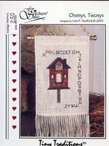 An item in the Crafts category: Onesys Twosys Birdhouse April Sampler For Stitcher's Sake X-Stitch Mini Pattern