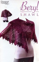 Beryl Shawl All Sizes Gourmet Crochet Pattern NEW 30 Days To Shop & Pay! - $8.07