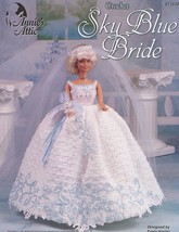 Sky Blue Bride Outfit For Barbie Doll Annie's Crochet Pattern - 30 Days to Pay! - $9.87