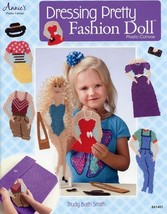 "Dressing Pretty Fashion Doll & Clothes & Case 15"" Plastic Canvas Pattern... - $1.23"