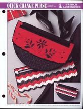 Quick Change Purse Annie's NEW Plastic Canvas Pattern/Instructions Leaflet - $2.67
