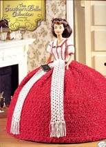 Southern Belle Holiday Dress Fashion Doll NEW Crochet Pattern Leaflet - $6.27