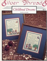 Childhood Dreams Boys Girls Silver Threads Cross Stitch Pattern Leaflet NEW - $2.67
