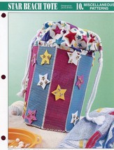 Star Beach Tote Annie's Plastic Canvas Pattern NEW RARE - 30 Days to Shop & Pay! - $2.67