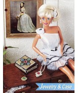 Jewelry & Case for Barbie Doll Annie's Plastic Canvas PATTERN LEAFLET New - $0.89