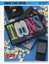 Toons VHS Tape Cover Annie's Plastic Canvas Pattern - 30 Days to Shop & ... - $0.89