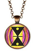 Adinkra Mmere Dane of Life Dynamics for Time Changes Antique Copper Pendant - $14.95