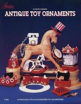 Antique Toy Christmas Ornaments Train Drum Paradise Plastic Canvas Pattern NEW - $7.62