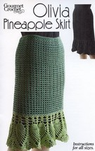 Olivia Pineapple Skirt Gourmet Crochet Pattern NEW  30 Days To Pay!  SZ XS to 5X - $8.07