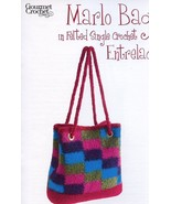 Marlo Bag in Felted Single Crochet Entrelac Gourmet Crochet Pattern NEW - $6.27