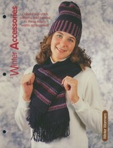 Winter Accessories Hat Scarf Knitting Pattern NEW 30 Days to Shop & Pay! - $2.22