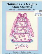 Wedding Cake Bobbie G. Cross Stitch Mini Patter... - $4.02