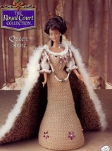 Queen Anne Outfit for Barbie Doll Annie's Royal Court Crochet Pattern NEW - $4.02