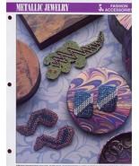 Metallic Jewelry Gecko Pin Earrings Annie's Plastic Canvas PATTERN/INSTR... - $0.89