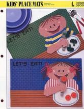 Kids' Place Mats Boy Girl Annie's NEW Plastic Canvas Pattern - 30 Days t... - $0.90