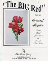 The Big Red Oriental Poppies  NEW Cross Stitch Pattern - $13.38