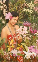 Lovely Hawaii, the tender loveliness of a sarong clad maiden, 1959 used Postcard - $4.99