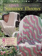 Quick Summer Throws 8 Afghan Designs HOWB Knitting PATTERN/INSTRUCTIONS NEW - $1.32