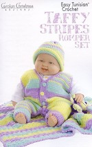 Taffy Stripe Romper Set Newborn-12 mo Gourmet Crochet Pattern Leaflet NEW - $6.27