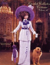 1912 Edwardian Dinner Gown Paradise vol 78 for Barbie Doll Crochet PATTERN NEW