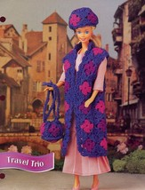 Travel Trio Outfit fits Barbie Doll Annie's Crochet Pattern/Instructions Leaflet - $1.77