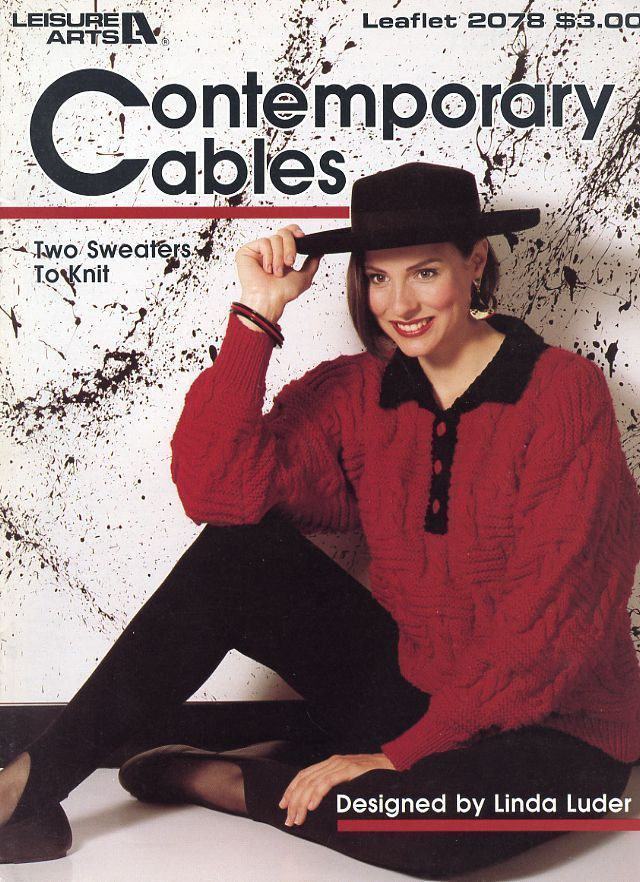 Contemporary Cables 2 Womens Sweaters Sizes S-L LA 2078 Knitting PATTERN LEAFLET - $3.12