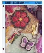 Raffia Keychains Annie's NEW Plastic Canvas Pattern - 30 Days To Shop & ... - $0.90