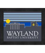 Wayland Baptist University 13 x 16 Uscape with Retro Skyline Framed Print  - $39.95