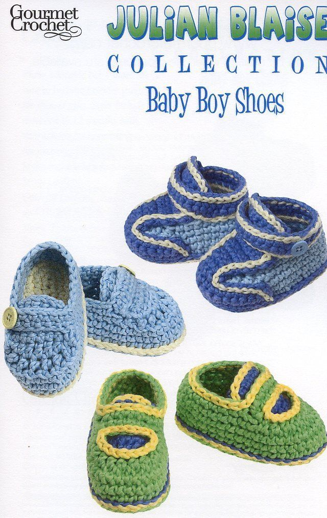 Primary image for Julian Blaise Collection Baby Boy Shoes Gourmet Crochet Pattern Leaflet