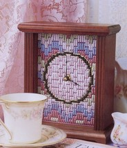 Bargello Clock Annie's NEW Plastic Canvas Pattern -30 Days To Shop & Pay! - $0.90