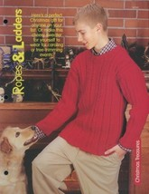 Ropes & Ladders Sweater Adult Sz S-XL Knitting Pattern Leaflet NEW - $1.77
