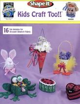 Kids Craft Too Frog Bunny Heart Shape-It Cross Stitch Pattern 16 Designs... - $1.14