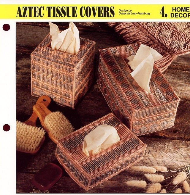 Aztec Tissue Covers 3 Sizes SML Annie's Plastic Canvas Pattern - 30 Days To Pay! - $0.90