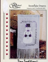 Snowflake Dreams January Snowman Sampler For Stitcher's Sake X-Stitch Pa... - $2.67