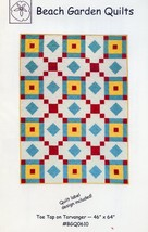 "Toe Tap on Torvanger 46"" x 64"" Beach Garden Quilt Pattern NEW 30 Days to... - $5.37"