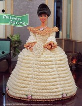 17th Century Ball Gown fits Barbie Doll Annie's Crochet Pattern Leaflet NEW - $2.22