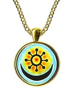 Adinkra Osram Ne Nsoromma for Love, Faithfulness, Harmony Gold Pendant - $14.95
