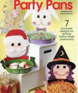 Party Pans Witch Santa Bunny Scarecrow Plastic Canvas PATTERN/INSTRUCTIO... - $1.77