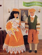 Yesteryear Outfits fit Barbie/Ken NEW Annies Crochet Pattern Leaflet - $0.90