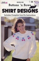 Buttons 'n Bows Gick Iron-on Shirt Design for F... - $2.67
