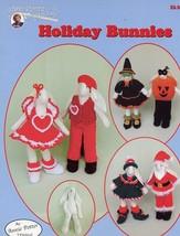 Holiday Bunnies Halloween Valentine Easter Annie's NEW Crochet PATTERN Leaflet - $22.47