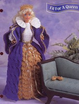 Fit for a Queen Outfit fits Barbie Doll Annie's Crochet Pattern Leaflet NEW - $2.31