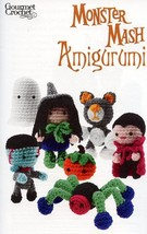 An item in the Crafts category: Monster Mash Amigurumi Witch Cat Vampire Spider Gourmet Crochet Pattern NEW