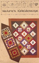 Nature's Kaleidoscope Quilt & Table Runner Quilt Country Pattern Leaflet... - $2.67