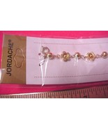 """Jordache Golden Flowers and Spheres 7"""" Bracelet NEW 30 Days to Shop & Pay! - $3.57"""