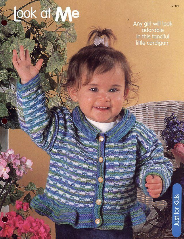 Primary image for Look at Me Girl's Cardigan HOWB Knitting Pattern Leaflet NEW sz 24 to 32""